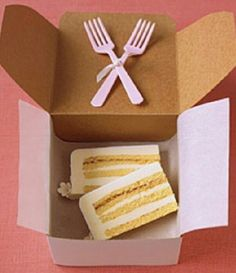 Cake to go for guests