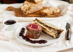 Beef tenderloin with roasted marrow bones