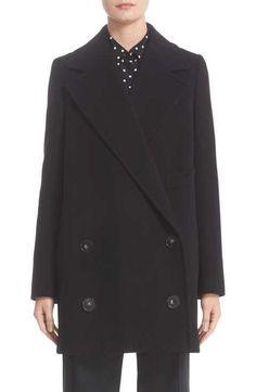 Stella McCartney 'Edith' Double Breasted Wool Blend Coat