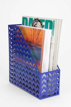 Chevron Metal Magazine Holder