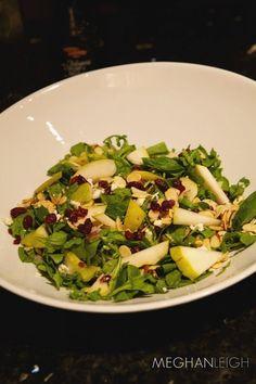 Meghan's Salad + Homemade balsamic Dressing - www.meghan-leigh.com/blog