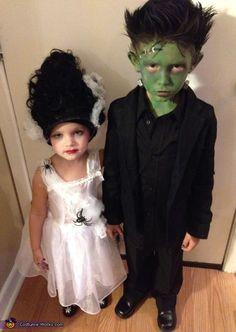 Frankstein e sua noiva... saídos de algum filme de terror por aí!