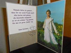 Hallo, heute zeige ich euch, wie versprochen, die Danksagung von meiner Tochter. Sie wollte eine Karte mit Blumen und Schmetterlingen. Di...