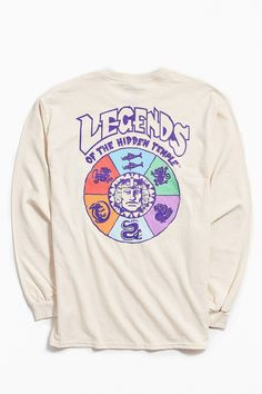 Urban Outfitters Legends Of The Hidden Temple Long Sleeve Tee - S New Man Clothing, Graphic Tees, Graphic Sweatshirt, Champion Sweatshirt, Apparel Design, Urban Outfitters, Long Sleeve Tees, Temple, Legends