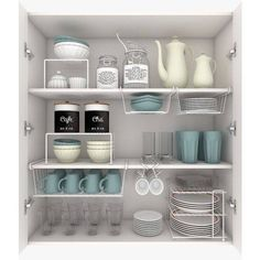 cabinet organization Cluttered and disorganized, kitchen cabinets can become a place of complete mayhem. With plates, bowls, and mugs strewn about, it's hard to keep anything wher Kitchen Organization Pantry, Home Organisation, Diy Kitchen Storage, Diy Kitchen Cabinets, Home Decor Kitchen, Organized Kitchen, Organization Ideas, Smart Kitchen, Pantry Storage