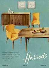 Image result for 1950's furniture ads