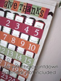 Homemade Thanksgiving Advent Calendar & printable cards. Christmas ones too.