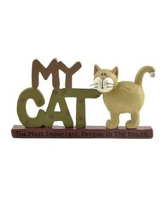 Take a look at this 'My Cat' Block by Blossom Bucket on #zulily today!