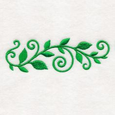 Machine Embroidery Designs at Embroidery Library! Vine Design, Border Design, Machine Embroidery Designs, Embroidery Patterns, Vine Drawing, Vine Border, Hand Embroidery Flowers, Clovers, Doodle Patterns