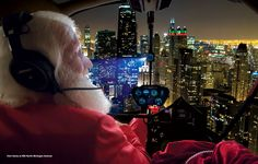 """Get a """"reindeer's eye view"""" of Chicago with a panoramic tour of your favorite holiday attractions from thousands of feet above, piloted by Santa himself."""