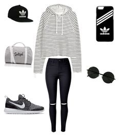 Don't have to always look girly by Mashi on Polyvore featuring polyvore, WithChic, NIKE, adidas, adidas Originals, fashion, style and clothing