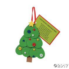Heart Christmas Tree Ornament With Poem Craft Kit. Fill your own Christmas tree with love using these heart-filled foam trees. Enjoy the added poem about the ...