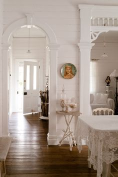 Would love any room done like this.Shabby Chic JoySimply white and incredibly Shabby.by Shabby Chic Joy House Design, House, Interior, White Cottage, Home, Country Cottage, House Styles, Cottage Interiors, White Rooms