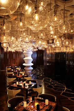 The insanely over-the-top design of the Ozone Restaurant in Hong Kong's Ritz-Carlton.