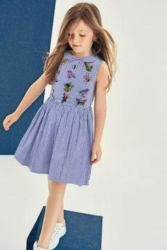 Blue Gingham Dress (3-12yrs)