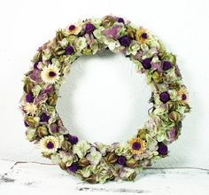 HANDMADE Dried Flower Wreath Shabby Cottage by hollyrockvintage #flowers #shabbychic