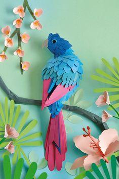3d Paper Crafts, Paper Crafts Origami, Paper Crafting, African Art Paintings, Paper Pop, Paper Birds, Paper Artwork, Box Art, Flower Making