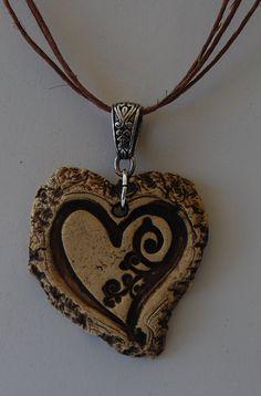 Items similar to I Love, Love Aromatherapy Stoneware Essential oil Diffuser Pendant Heart on Etsy Ceramic Necklace, Ceramic Jewelry, Ceramic Beads, Clay Beads, Clay Jewelry, Jewelry Crafts, Jewlery, Jewelry Ideas, Essential Oil Jewelry