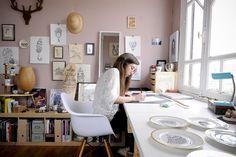 """Casa de la ilustradora que está detrás de la firma """"Little Madi"""". Julien Fernandez photographe decoration"""