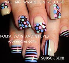 """Robin Moses Nail Art: """"striped nails"""" """"dot nails"""" """"spring nails 2015"""" """"nail art"""" """"colorful nails"""" """"stripes and dots"""" """"nails"""" """"fun nail art"""" nails nail art colorful ful dots stripes spring """"nail trends 2015"""""""