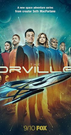 Created by Seth MacFarlane. With Seth MacFarlane, Adrianne Palicki, Penny Johnson Jerald, Scott Grimes. An exploratory ship from Earth faces intergalactic challenges 400 years in the future. Tv Shows 2017, Tv Series 2017, Sci Fi Tv Shows, Tv Series To Watch, Comedy Series, Comedy Tv, Comic Movies, Movie Tv, Tv 2017