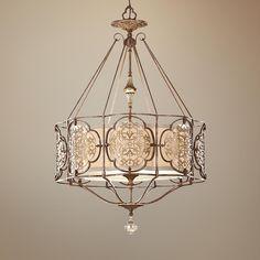 "Murray Feiss Marcella 3-Light 21 1/4"" Wide Bronze Chandelier | LampsPlus.com"