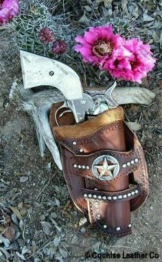 Western Gun Holsters - Custom made Western Leather Gun Holster, Leather Holster, Leather Tooling, Western Holsters, Cowboy Action Shooting, Cowboy Gear, Ranger, Leather Projects, Leather Crafts