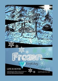 Frozen Birthday Greeting Greeting Card