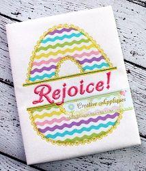 Split Lace Cutout Egg Applique - 4 Sizes! | Font Frames | Machine Embroidery Designs | SWAKembroidery.com Creative Appliques