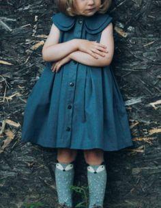 Sweet Handmade Denim Dress | Etsy