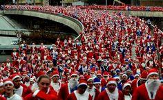 Santa rush hour.