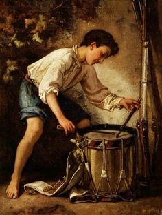 Thomas Couture - Le jeune batteur (1857)