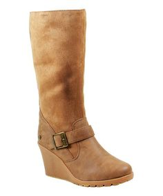 Love this Chestnut Jessica Wedge Boot - Women on #zulily! #zulilyfinds