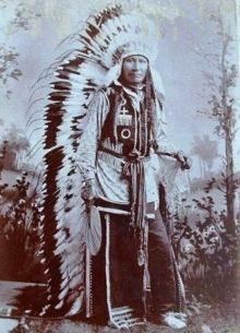Chief American Horse was one of the first Wild Westers with Buffalo Bill Cody. In 1886, American Horse replaced Sitting Bull as the Indian headliner for the 1886-87 seasons.