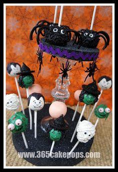 Tutorials - Halloween Cake Pops + cake pop stand how to