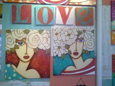 Baraka cuadros Painting People, Art Plastique, Female Art, Folk Art, Mixed Media, Lily, Abstract, Creative, Frame