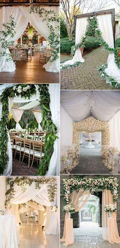 elegant wedding entrance decoration ideas #weddingideas #weddinginspiration #weddingdecor #weddingreception #weddingtrends