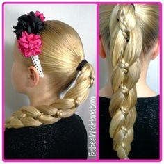 Gorgeous 4 strand braid with micro-braid from BabesInHairland.com #4strandbraid #braid #longhair #video #tutorial #hairstyle