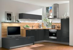 #Küche in Anthrazit #Eckküche www.dyk360-kuechen.de