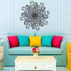 Mandala Wall Decal Vinyl Sticker Wall Decor Home by CozyDecal