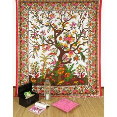 Tree of Life Tapestry Wall Hanging Bedspread - Queen/Double
