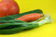 Fresh, colorful vegetables.
