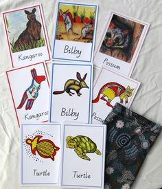 Aboriginal Memory Card set Children match the Australian animal with The traditional Aboriginal art version au Aboriginal Art For Kids, Aboriginal Education, Indigenous Education, Aboriginal Culture, Indigenous Art, Infant Activities, Art Activities, Naidoc Week Activities, Family Day Care