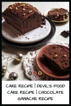 This Devil's Food Cake recipe or rich Dark Chocolate Cakes, Chocolate Ganache, Ganache Recipe, Devils Food, How To Make Chocolate, Brownies, Cake Recipes, Muffins, Cupcakes