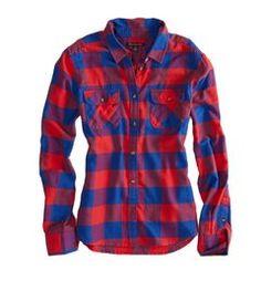 AE Boyfriend Button Down Shirt | Hukkster