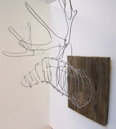 Wire Deer Head, $80 | 23 Delightful Pieces Of Faux Taxidermy Where No Animal Actually Died