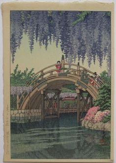 pont japonais peinture japonaise
