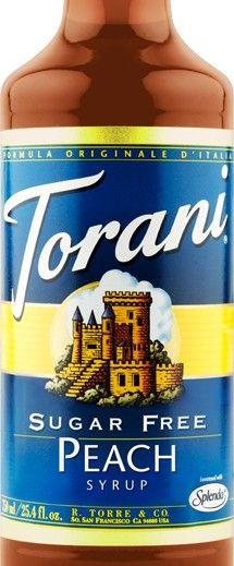 Sugar Free Peach Torani Syrup