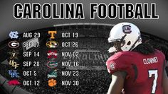2013 USC Gamecock Football Schedule!