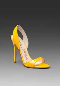 COURTNEY CRAWFORD Slingback Sandal in Yellow Patent at Revolve Clothing - Free Shipping! - StyleSays